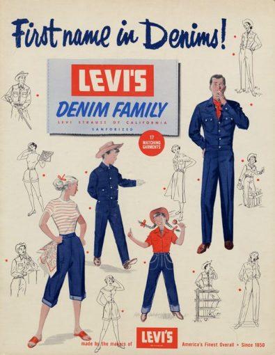 Vintagefrisyrer - Levis-reklam