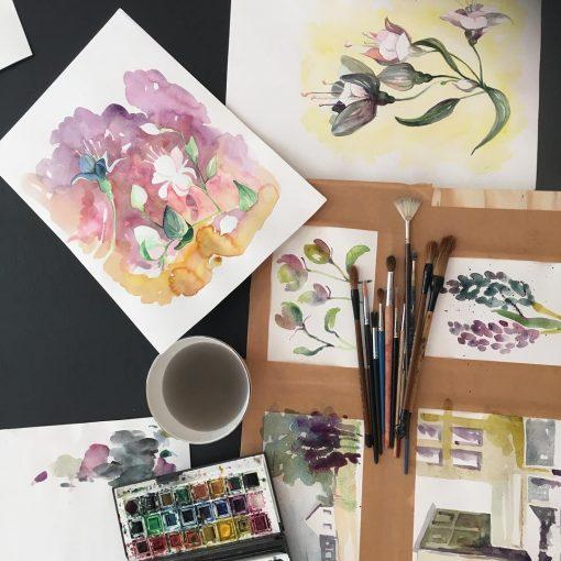 Akvarellmåleri - Material